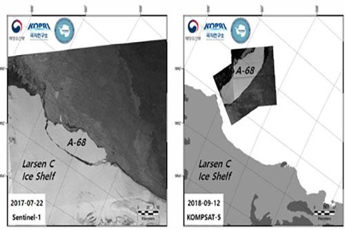 극지연구소, 남극 빙붕 붕괴 이후 모습 독자 기술로 관측