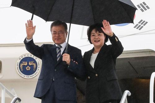 73e Assemblée générale de l'Onu : le président Moon arrive à New York