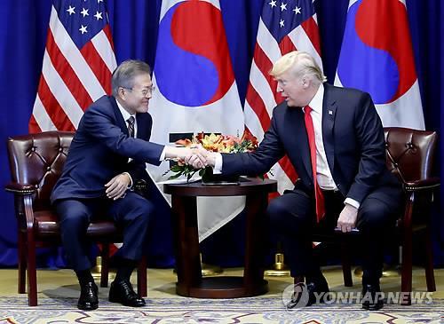 NYで韓米首脳会談 北韓非核化めぐり論議