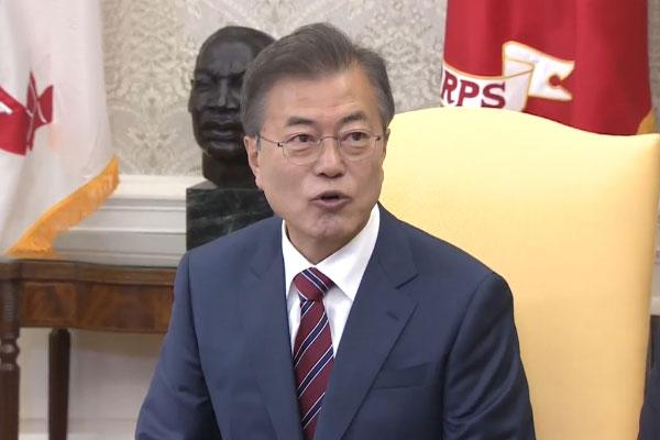 Presiden Moon Jae-in Bertemu dengan Sekjen PBB
