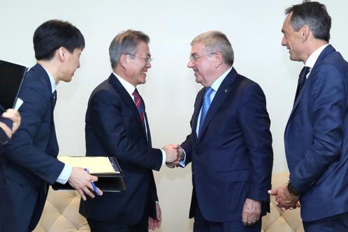 Präsident Moon fordert Diskussionen über gemeinsame Austragung von Olympia 2032 durch Koreas
