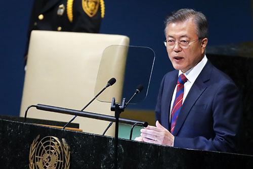 文大統領 24日に国連総会で演説