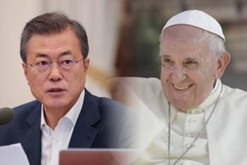الرئيس مون يسلم البابا دعوة الشمال إلى زيارة بيونغ يانغ