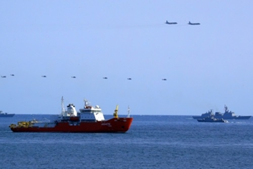 Coup d'envoi de la revue internationale de la flotte à Jeju
