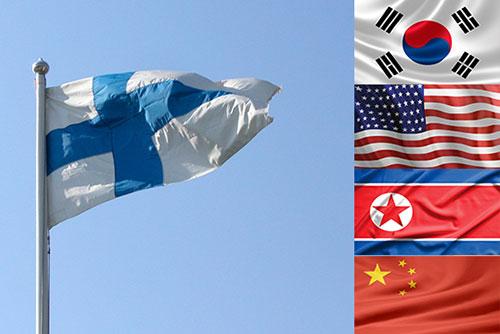 Gespräche zwischen den zwei Koreas, USA und China finden derzeit in Finnland statt