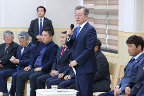 Moon Vows to Consider Pardons for Protesters against Jeju Naval Base