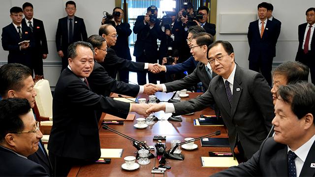 الكوريتان تجريات مباحثات رفيعة المستوى في بان مون جوم