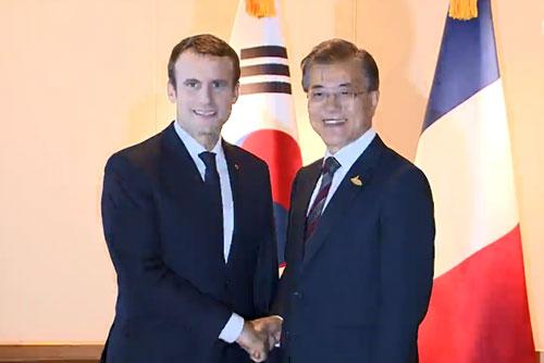 Moon Jae-in et Emmanuel Macron se rencontrent ce soir