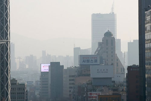 Hohe Feinstaubkonzentrationen in Südkorea