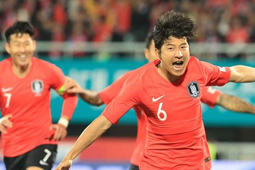 Football : match nul entre la Corée du Sud et le Panama