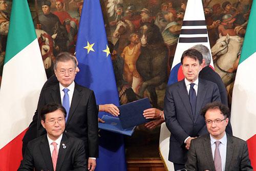 Lãnh đạo Hàn-Ý nhất trí về phương thức phi hạt nhân hóa bán đảo Hàn Quốc