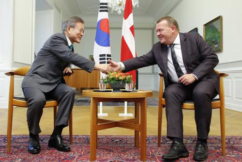 韓国・デンマーク首脳会談 「非核化の完成は核物質・長距離ミサイルの完全廃棄」