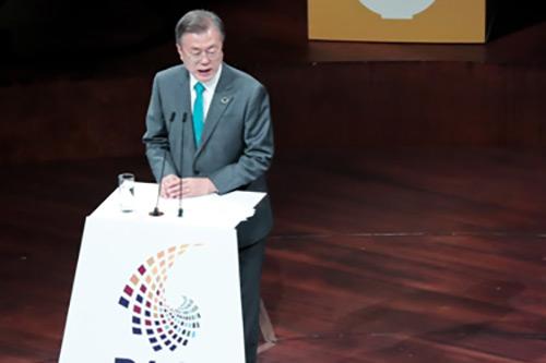 Presiden Moon Tekankan Tindakan terkait Perubahan Iklim Melalui Kerja Sama Internasional