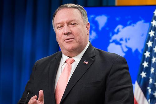 """폼페이오 """"북한 비핵화라는 힘든 과업 우리 앞에 남아있어"""""""