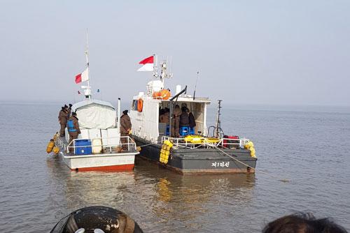 남북 한강하구 공동수로조사 완료...해도 제작 착수