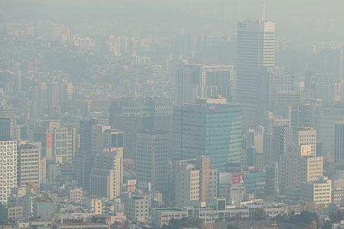 Seoul under Ultrafine Dust Advisory