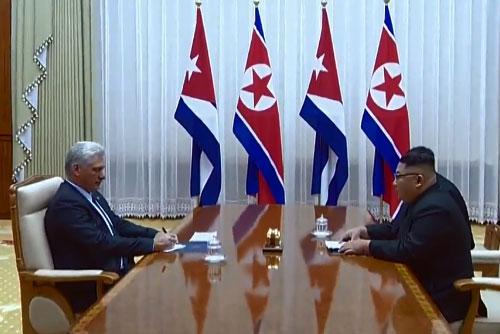 Nordkoreas Machthaber trifft Kubas Präsident
