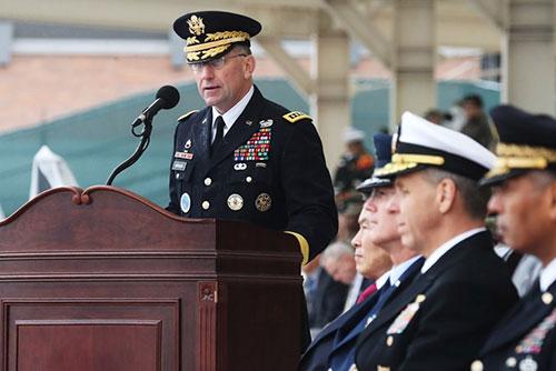 Le général Abrams prend ses fonctions en tant que nouveau commandant des forces américaines en Corée du Sud