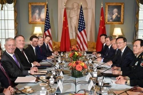 美中举行高级别外交安保对话 讨论北韩无核化问题