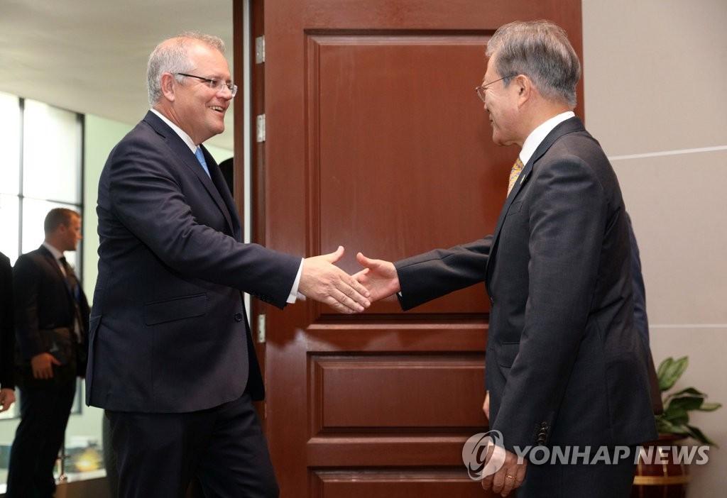 Moon Holds Summit with Australia