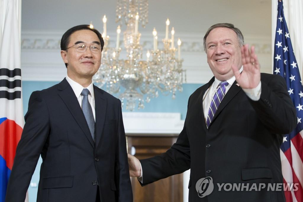 Vereinigungsminister Cho und Pompeo koordinieren Nordkorea-Strategie