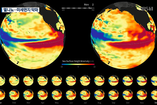 El fenómeno de El Niño empeora la calidad de aire