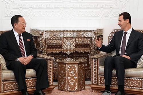 北韩外相同叙利亚总统会晤 称北叙面对相同敌人
