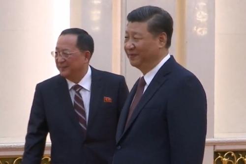 """北 리용호 만난 시진핑 """"북·미 대화 지지..중국과 소통 협력해야"""""""