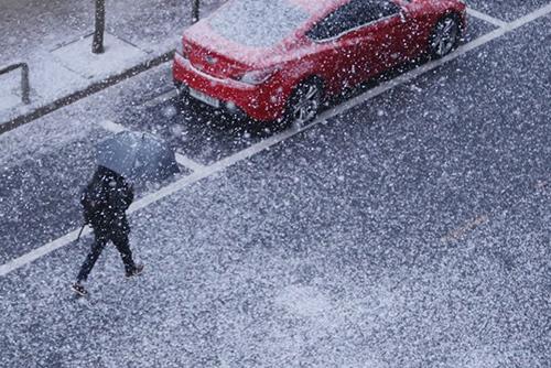 La nieve cesa y la temperatura caerá el viernes