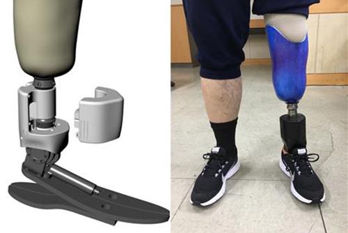 """""""살아있는 다리 같다"""" 스마트로봇 의족 상용화 성공"""