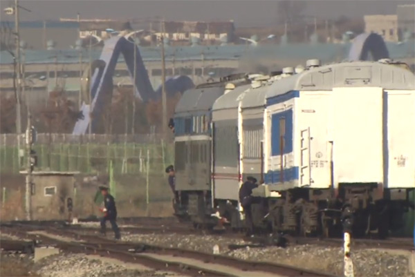 北媒简短报道南北韩举行铁路公路项目开工仪式