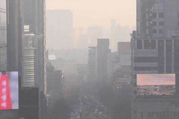 ソウル市内のPM2.5濃度 去年は8%減少