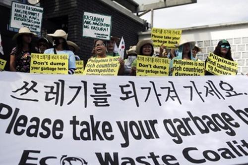 필리핀 불법수출 폐기물 13일부터 귀국길