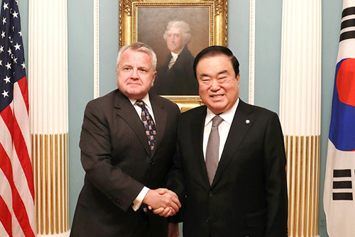 S. Korea's National Assembly Speaker Meets US Deputy Secretary of State
