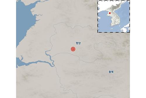 평양 근처에서 규모 2.7 지진