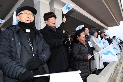 南北韩民间团体在金刚山举行迎新春活动