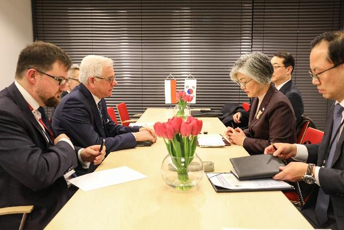 Top Diplomats of S. Korea, Poland Discuss Developing Ties, Inter-Korean Peace Efforts