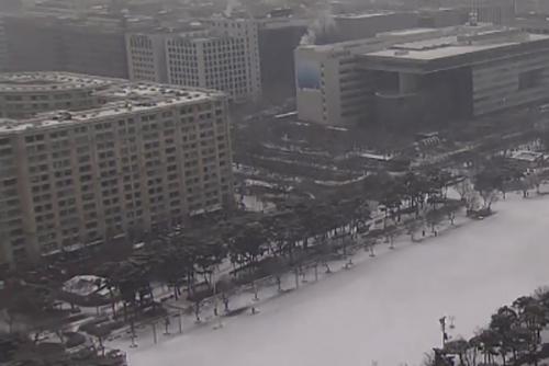 Salju Turun di Seoul dan Sekitarnya pada Jumat Pagi