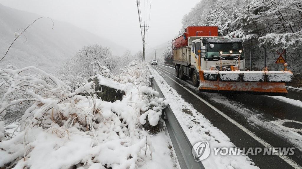 تحذير من تساقط كثيف للثلوج في سيول وغيرها من المناطق الكورية