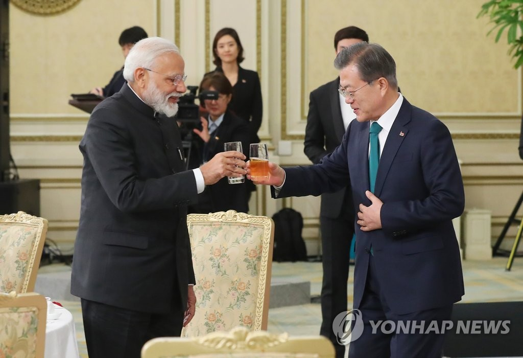 Moon, Modi Share Wish for Deeper S. Korea-India Ties