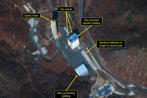 Des signes d'activité sur un site de lancement de fusées