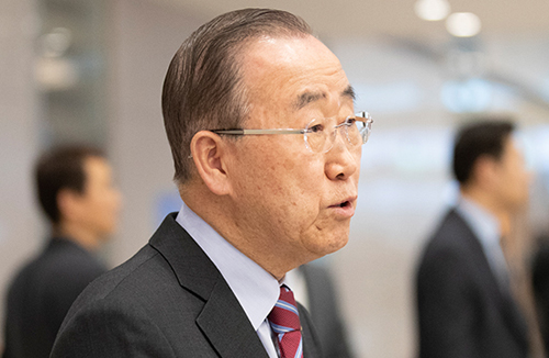 Moon, Ex-UN Chief to Discuss Fine Dust Issues