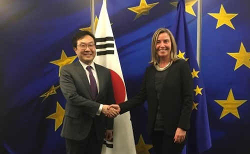 S. Korea, EU Agree on Need for Continuous Talks with N. Korea