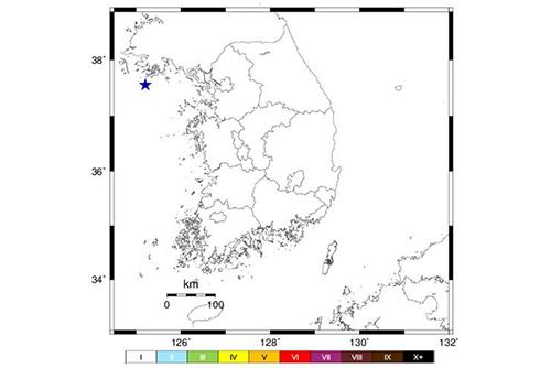 """북한 옹진 앞바다 규모 2.7 지진…기상청 """"자연지진"""""""