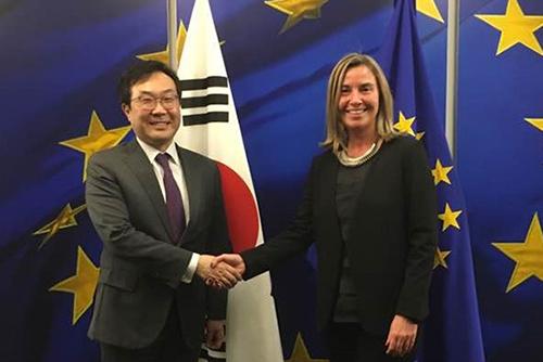 Südkorea und EU vereinbaren weitere Bemühungen um Denuklearisierung Nordkoreas