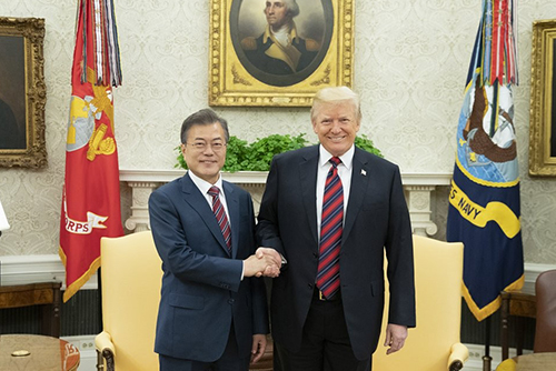 Moon and Trump to meet next month