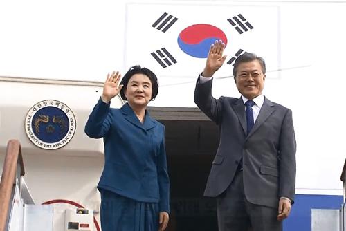Moon Leaves for Washington for Fresh S. Korea-US Summit