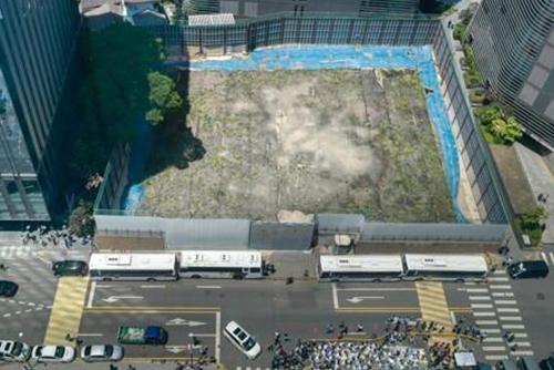 在韓日本大使館の建築許可取り消しに 4年経っても着工せず