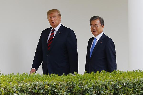 Maison blanche : les présidents sud-coréen et américain se sont concertés étroitement sur le dossier nord-coréen