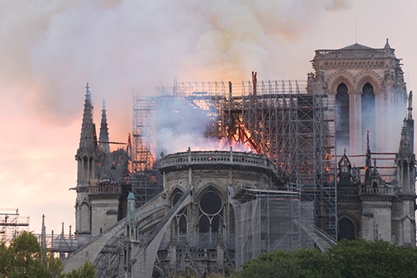 Notre Dame Cathedral Damaged Significantly in Fire